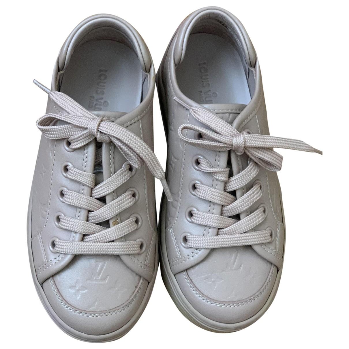 Louis Vuitton - Baskets   pour enfant en cuir - beige