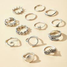 13pcs Starfish Decor Ring