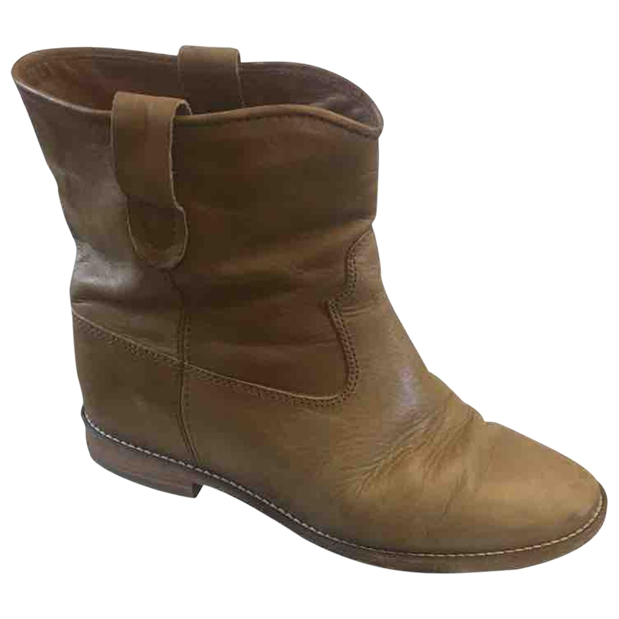 Isabel Marant Cluster Camel Leather Ankle boots for Women 39 EU