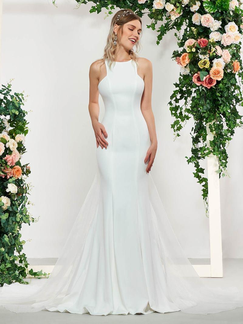 Ericdress Simple Mermaid Wedding Dress with Train