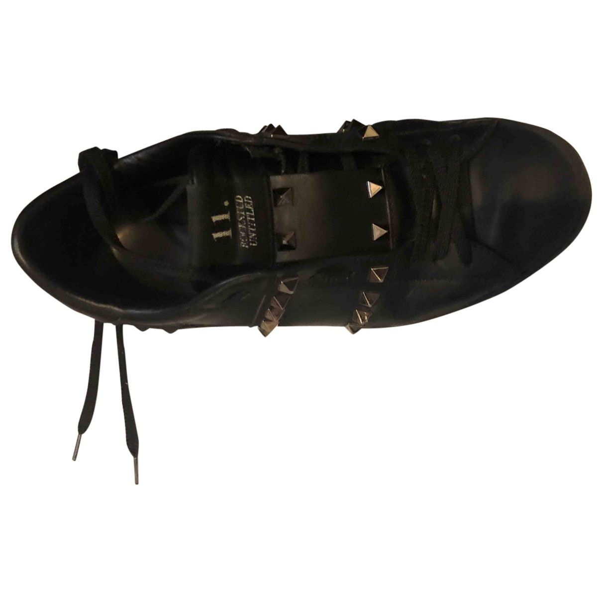 Valentino Garavani - Baskets Rockstud pour femme en cuir - noir