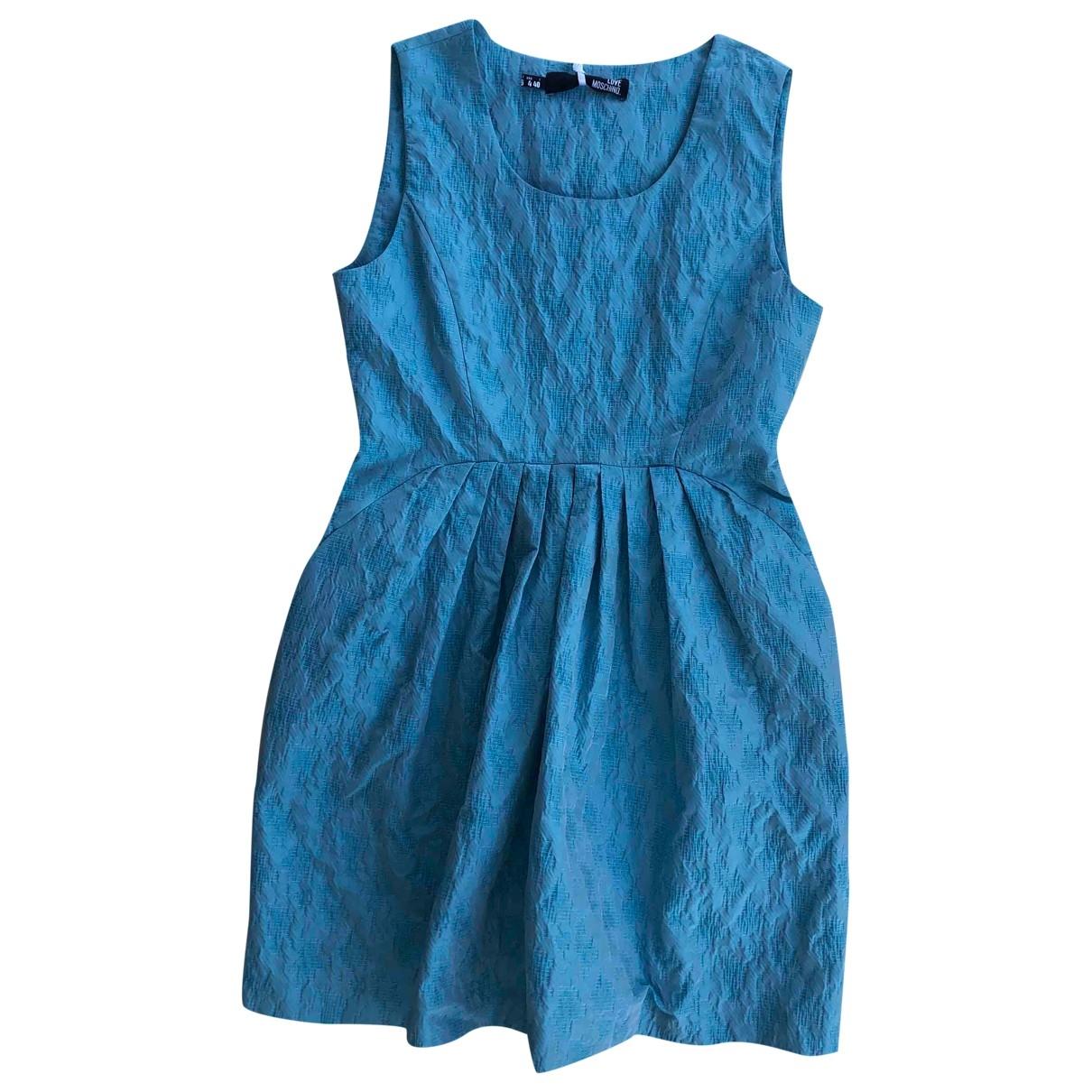 Moschino Love - Robe   pour femme en coton - turquoise