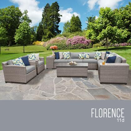 FLORENCE-11d Florence 11 Piece Outdoor Wicker Patio Furniture Set 11d with 1 Cover in