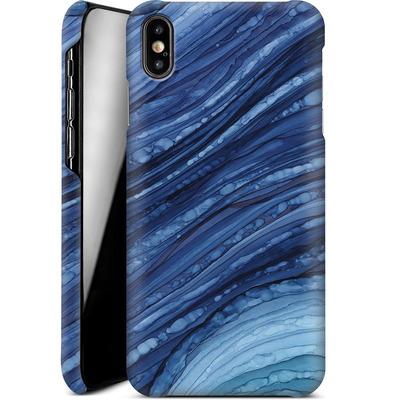 Apple iPhone XS Max Smartphone Huelle - Blue Agate Crystal Slice von Becky Starsmore