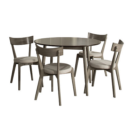 Hillsdale House Mayson 5-pc. Round Dining Set, One Size , Gray