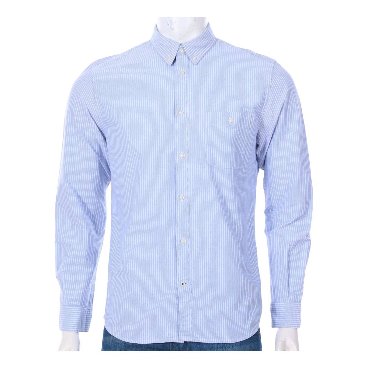 Nn07 No Nationality - Chemises   pour homme en coton - bleu