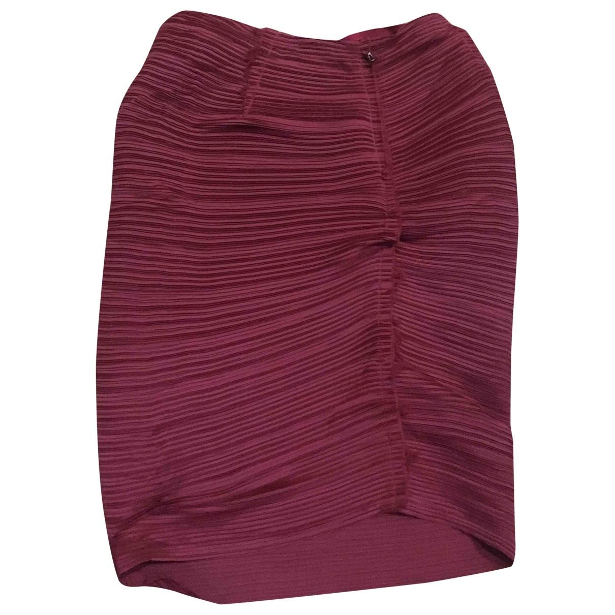 Lanvin \N Rocke in  Bordeauxrot Polyester