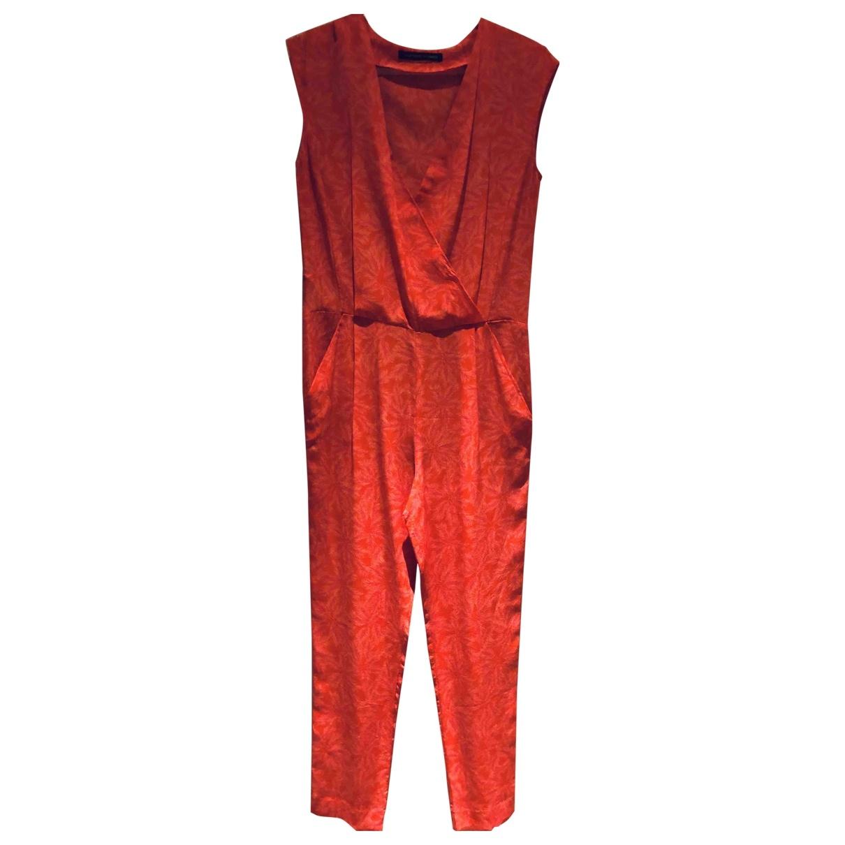 Comptoir Des Cotonniers \N Pink Silk jumpsuit for Women 36 FR