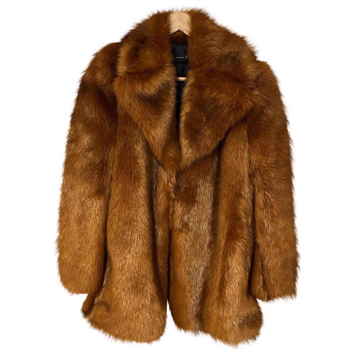 Zara \N Orange Faux fur coat for Women M International