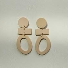 Geometric Acrylic Charm Drop Earrings