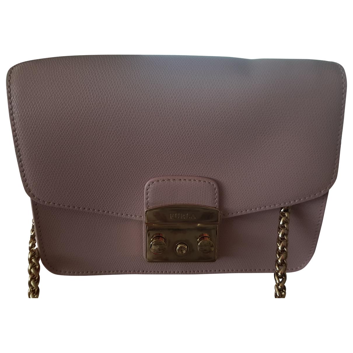 Furla Metropolis Pink Leather handbag for Women \N