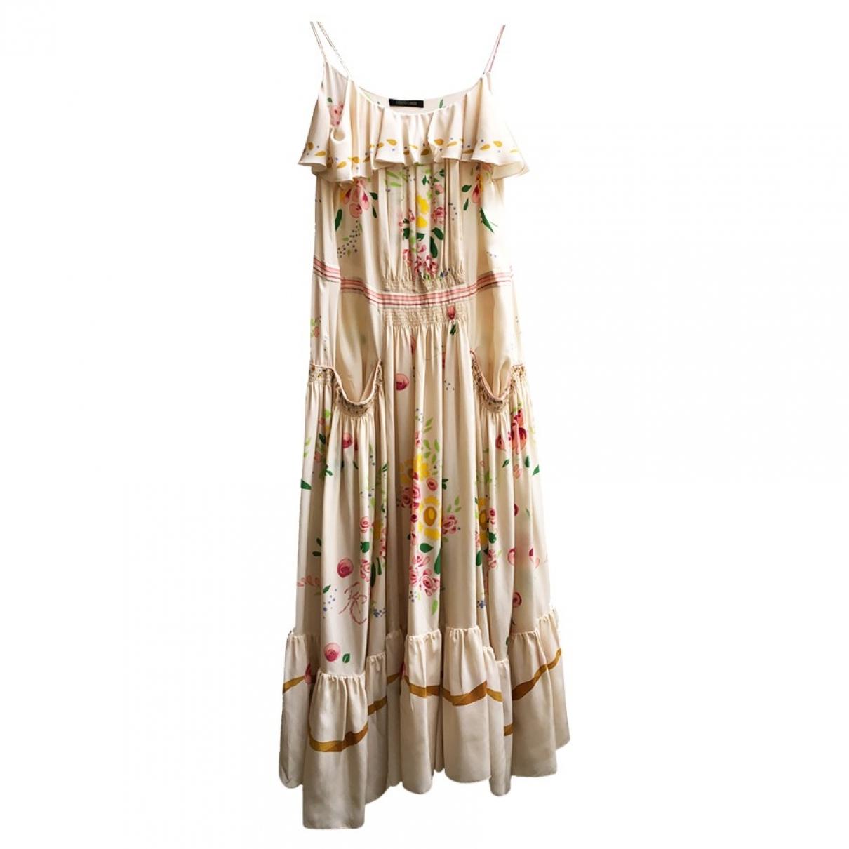 Roberto Cavalli \N Kleid in  Beige Seide