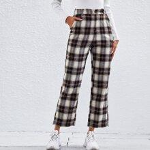 Pantalones cortos de pierna recta