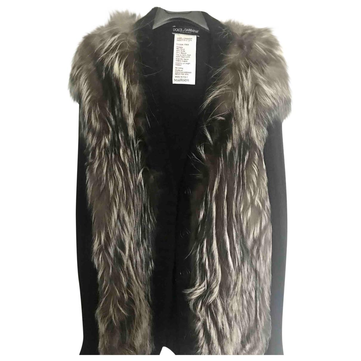 Dolce & Gabbana - Pull   pour femme en fourrure - noir