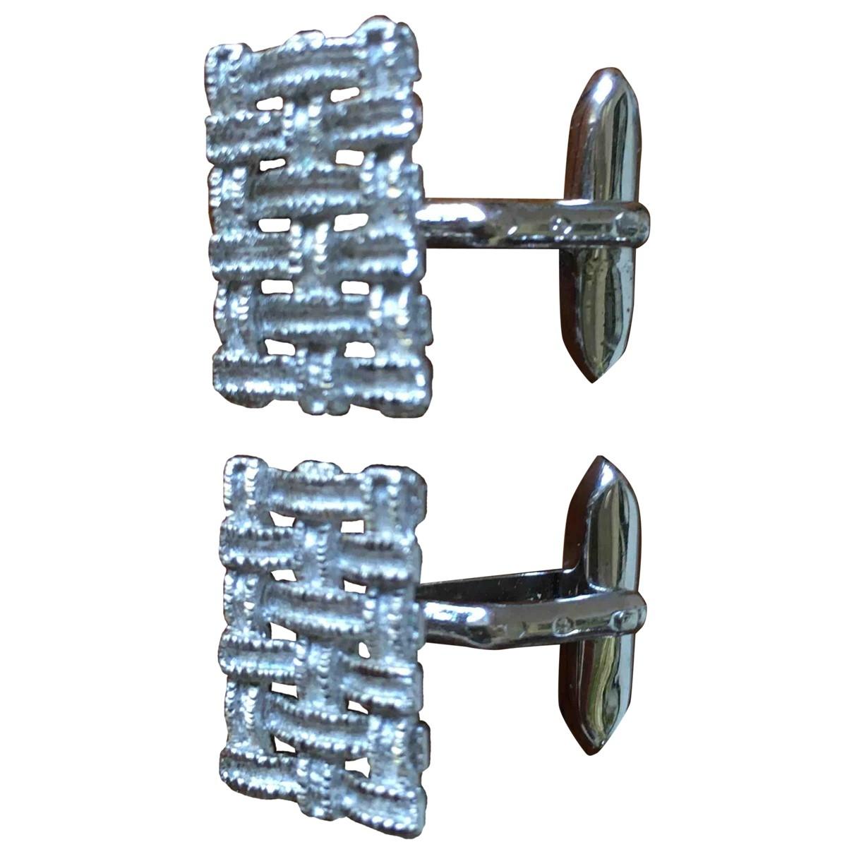 Non Signe / Unsigned \N Manschettenknopfe in  Silber Metall