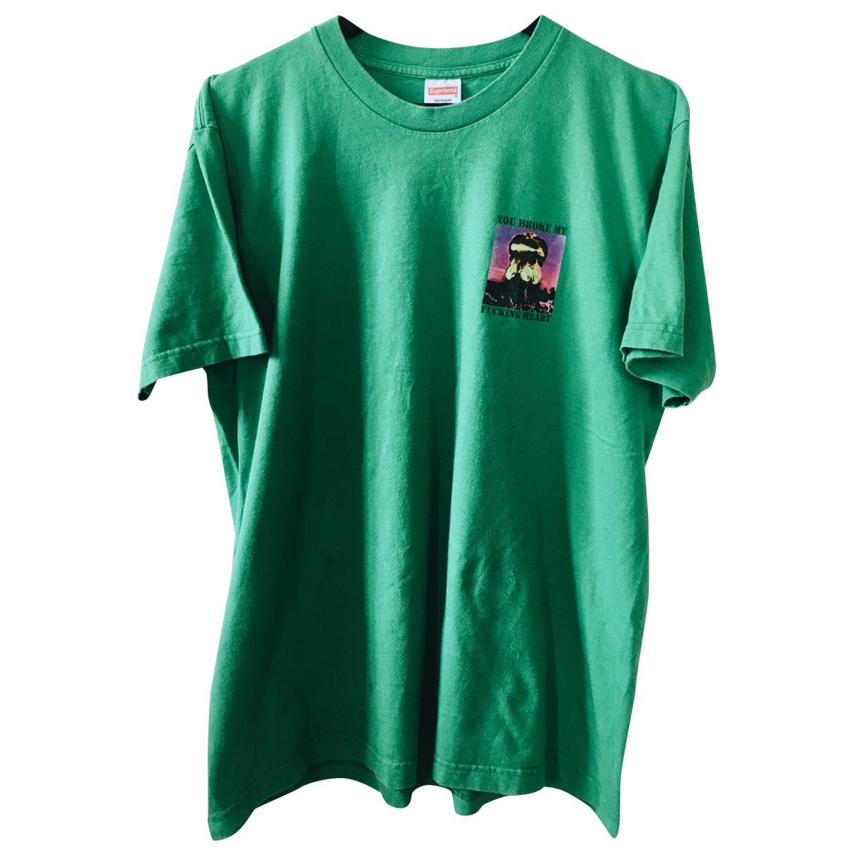 Supreme \N T-Shirts in  Gruen Baumwolle