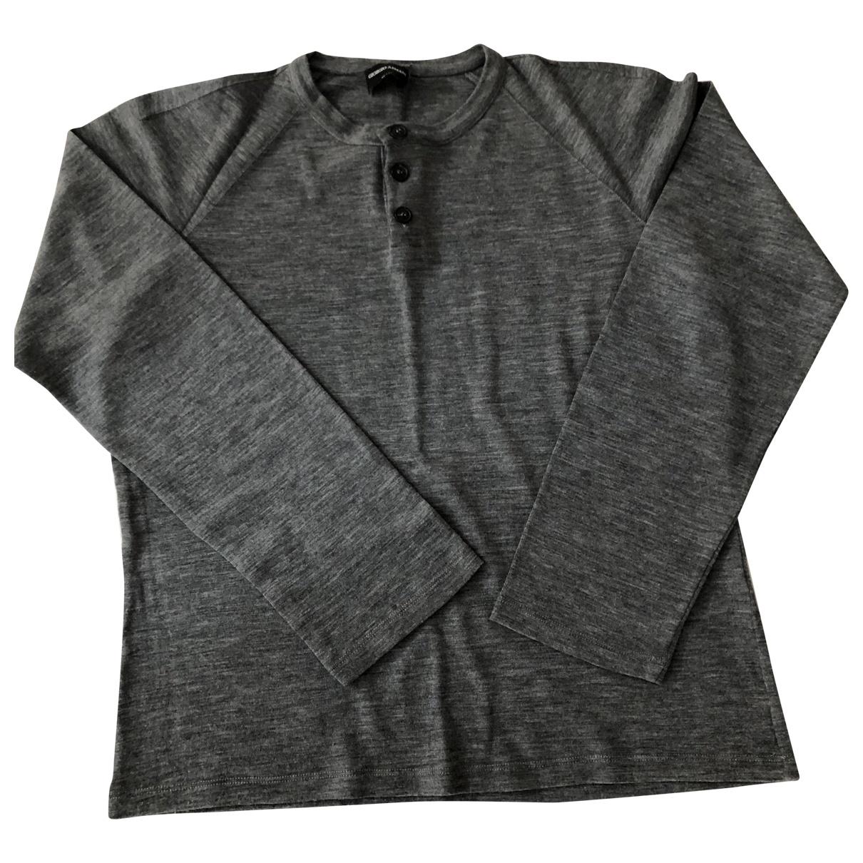 Giorgio Armani \N Pullover.Westen.Sweatshirts  in  Grau Wolle