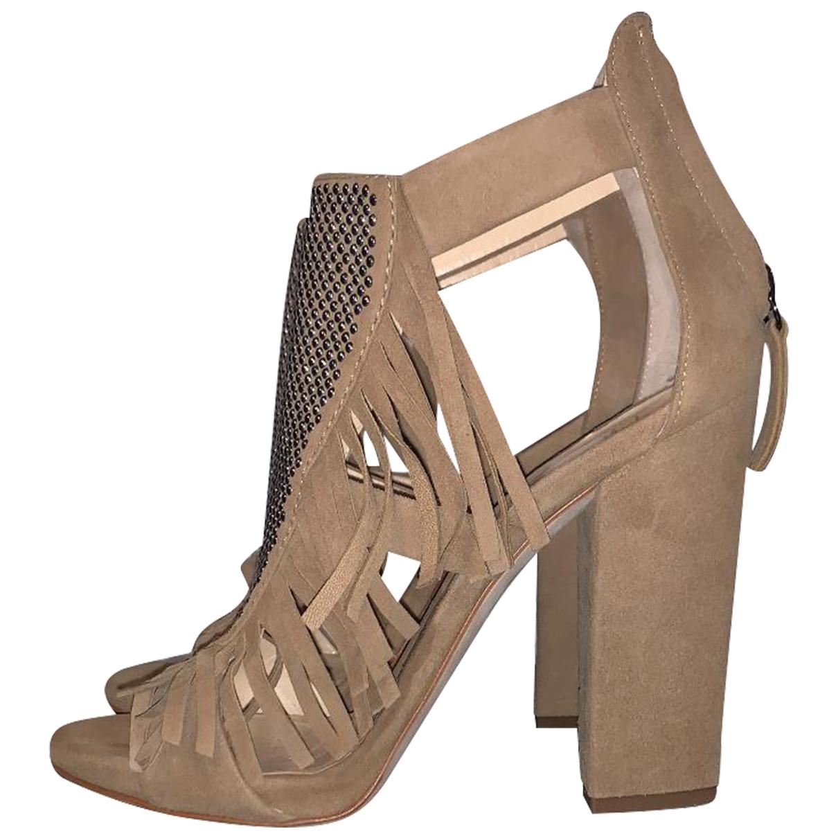 Giuseppe Zanotti \N Beige Suede Sandals for Women 37 EU