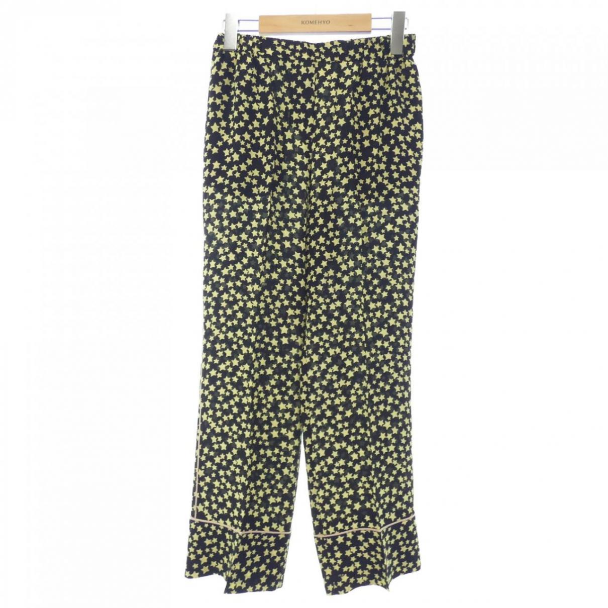 N°21 \N Green Silk Trousers for Women 38 IT