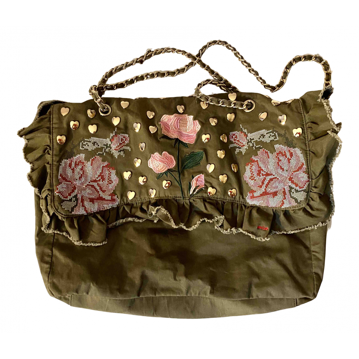 Mia Bag \N Green Cotton handbag for Women \N