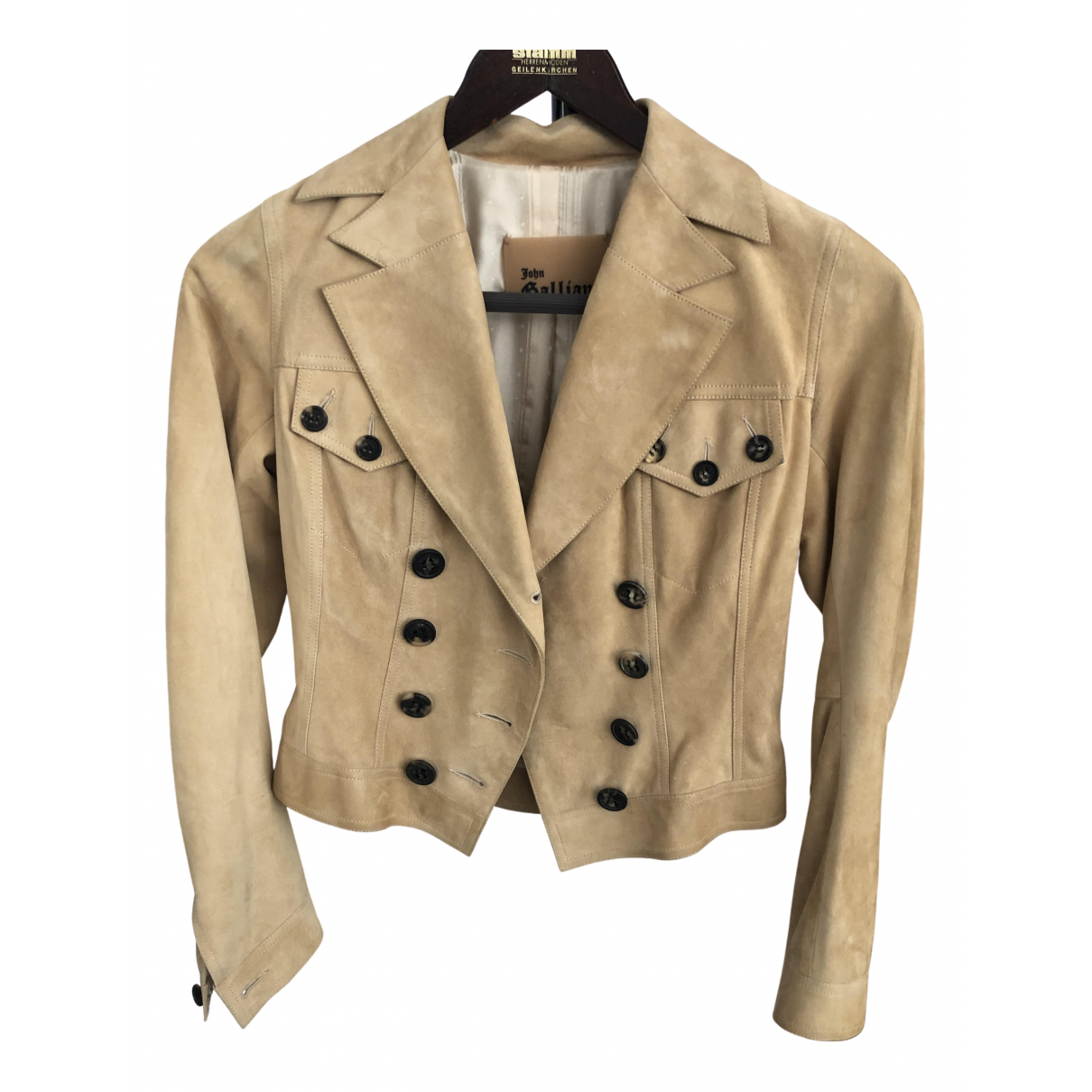 John Galliano N Beige Suede jacket for Women 38 FR