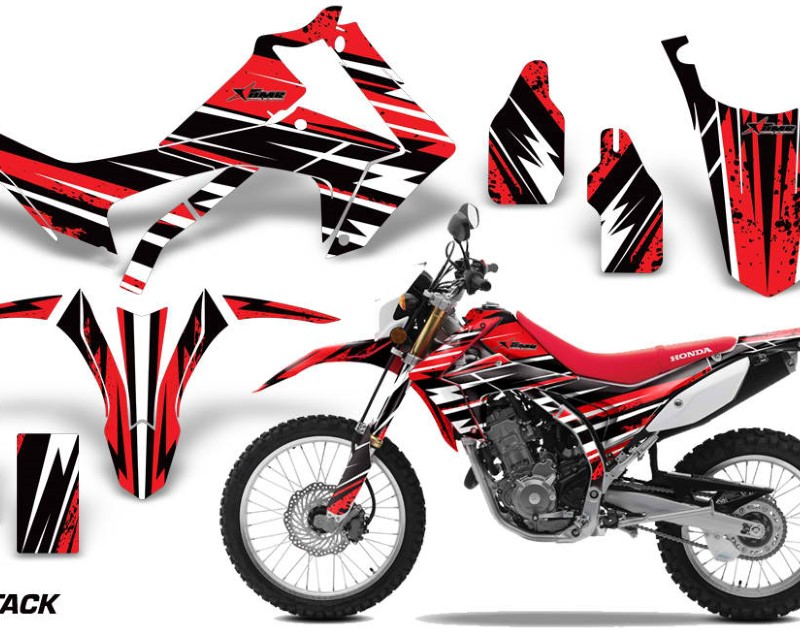 AMR Racing Dirt Bike Graphics Kit Decal Sticker Wrap For Honda CRF250L 2013-2016áATTACK RED