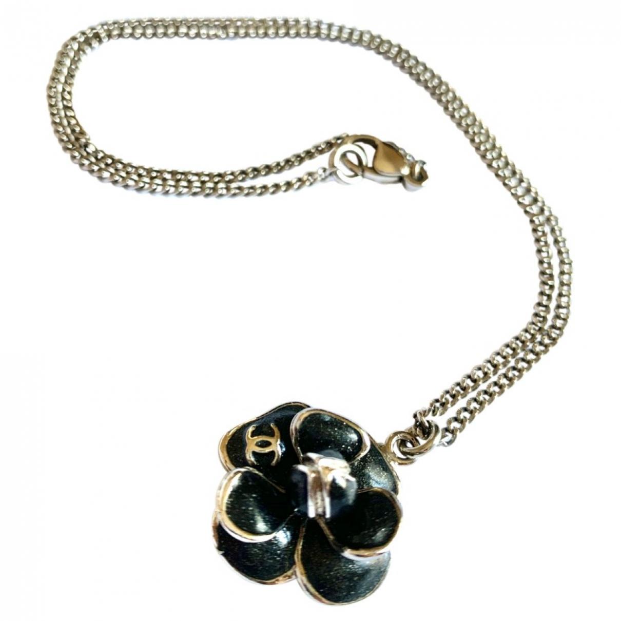 Chanel - Collier Camelia pour femme en acier - noir