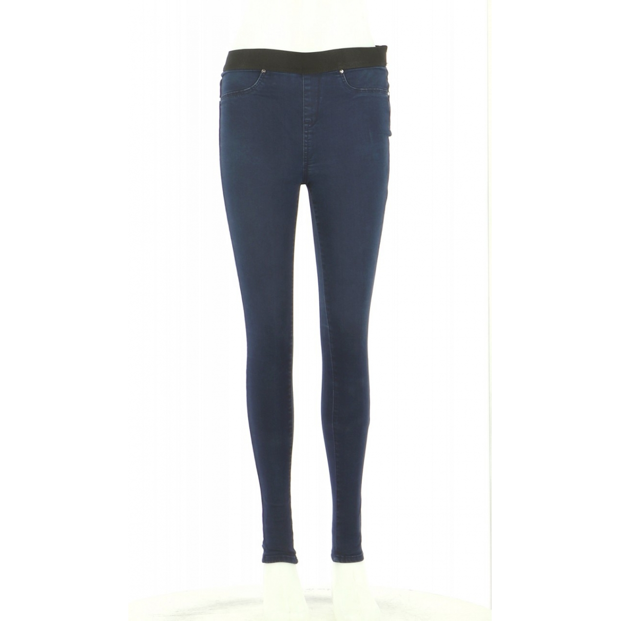 Karen Millen \N Navy Cotton Trousers for Women 36 FR