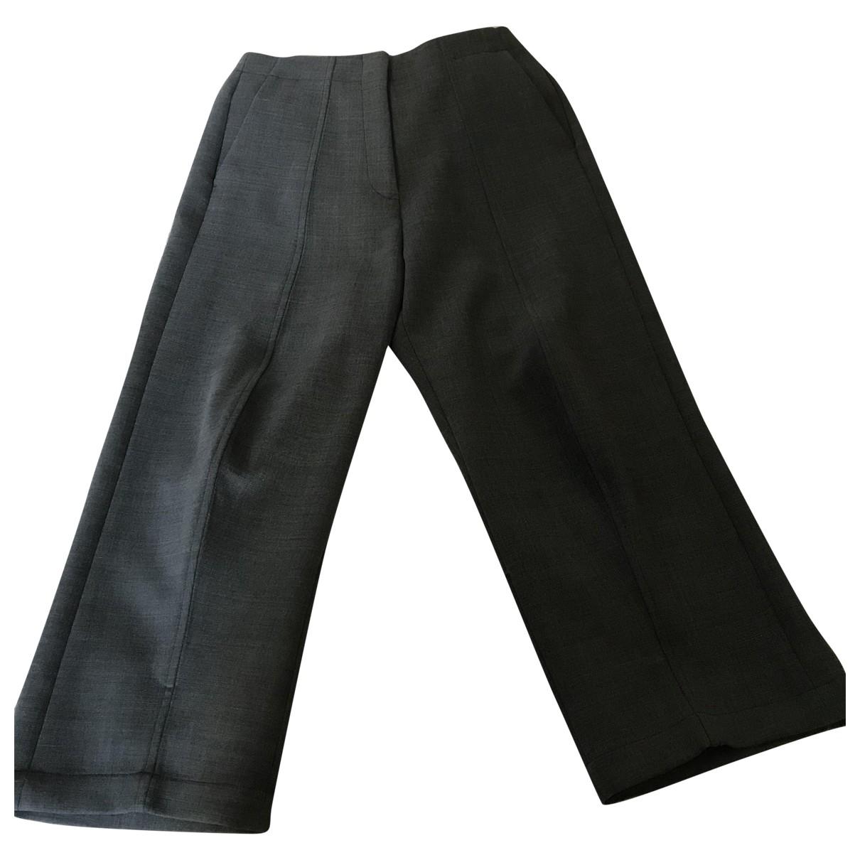 Mm6 \N Grey Wool Trousers for Women 40 IT