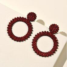 Weihnachten Ohrringe mit Strass Dekor und rundem Design