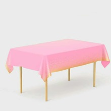 1pc Hot Stamping Disposable Tablecloth