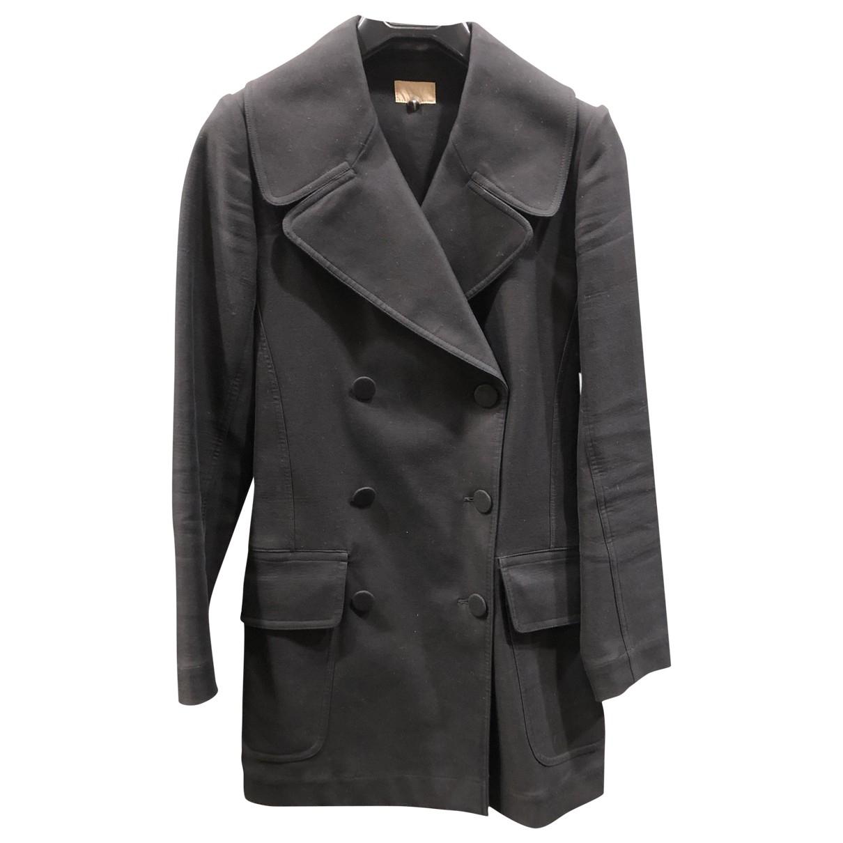 Alaia - Manteau   pour femme en coton - noir