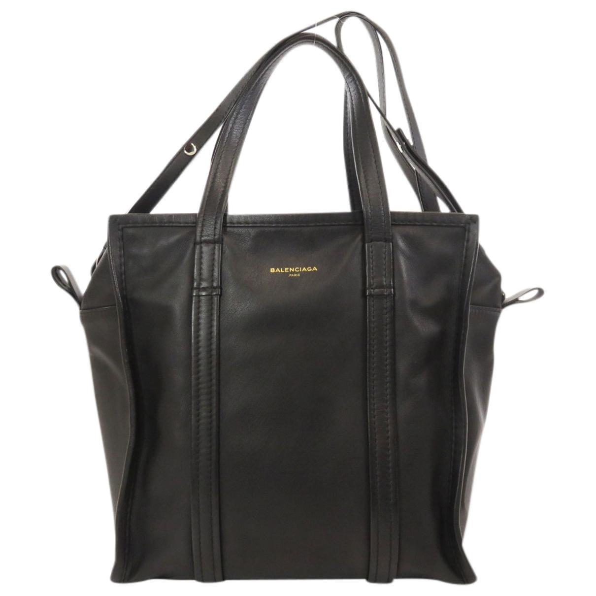 Balenciaga Bazar Bag Handtasche in  Schwarz Leder