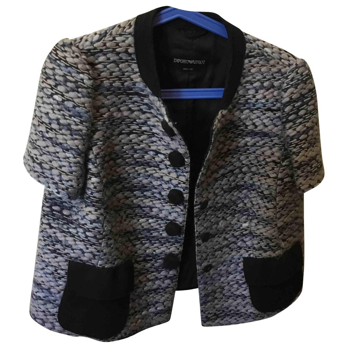 Emporio Armani \N Blue Wool jacket for Women 46 IT