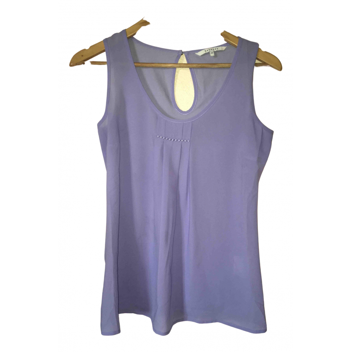 Xandres N Turquoise Silk  top for Women 34 FR