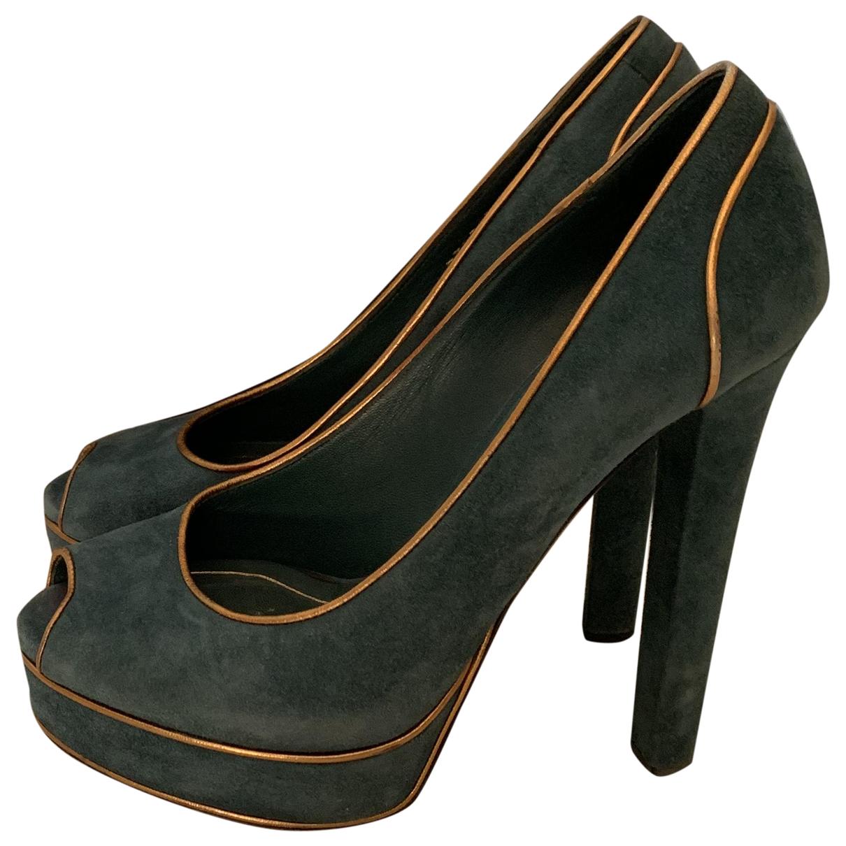Gucci \N Green Suede Heels for Women 38 IT