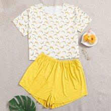 Pijamas de Talla Grande Frutas y verduras Dulce