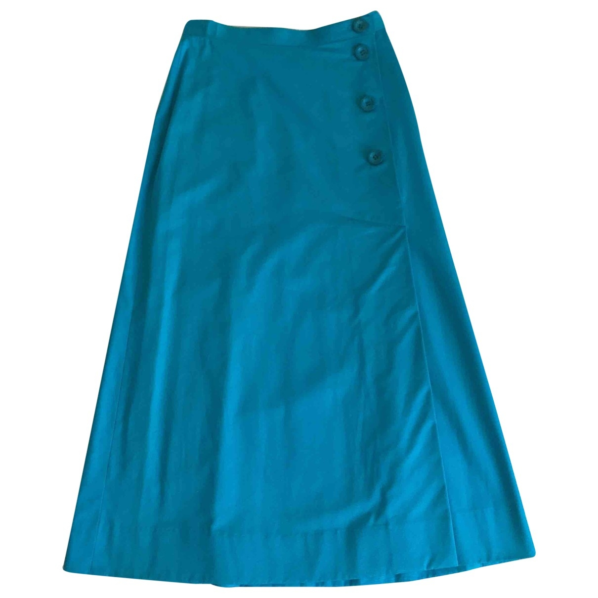 Non Signé / Unsigned \N Turquoise Cotton skirt for Women 36 IT
