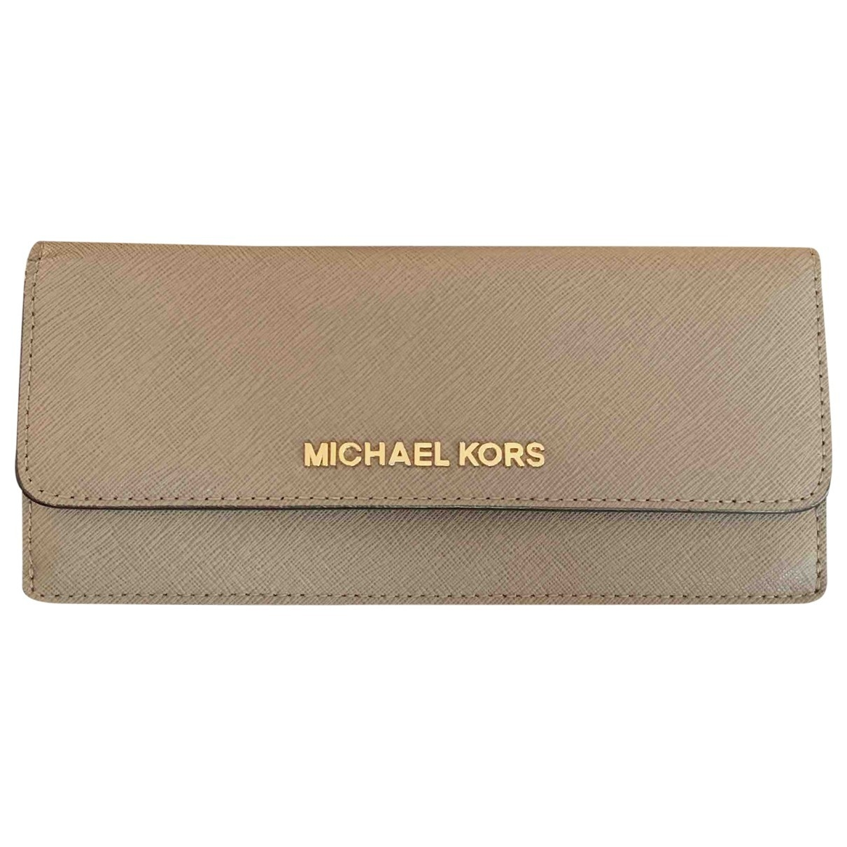 Michael Kors Jet Set Ecru Leather wallet for Women \N