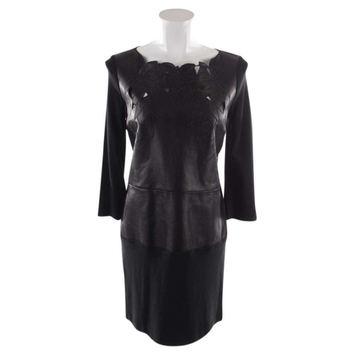 Patrizia Pepe - Robe   pour femme en cuir - noir