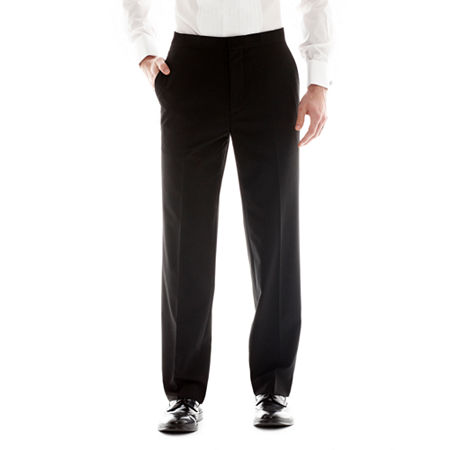 Men's JF J. Ferrar Flat-Front Classic Tuxedo Pants, 36 29, Black