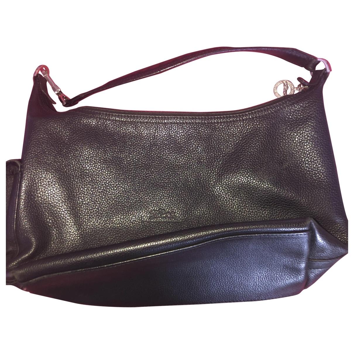 Longchamp \N Black Leather handbag for Women \N