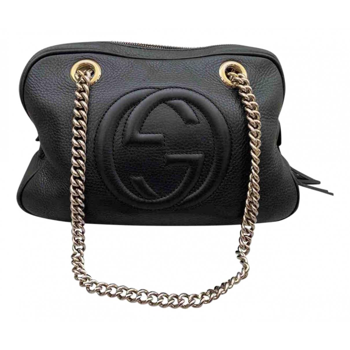 Gucci Soho Black Leather handbag for Women \N