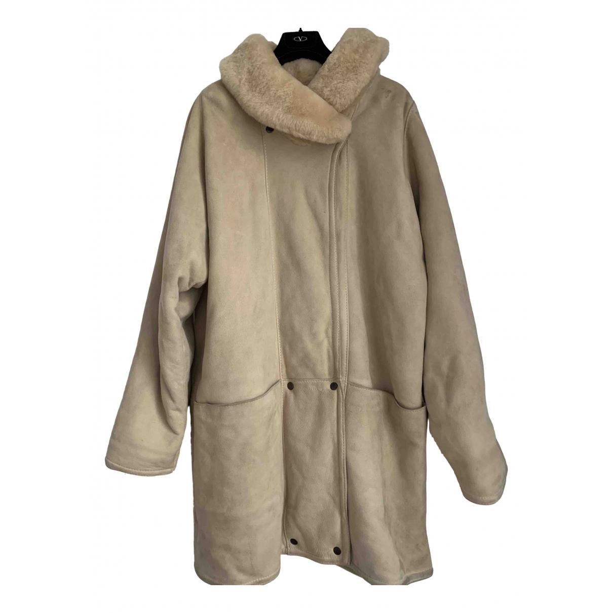 Mac Douglas N Beige Leather coat for Women 40 FR