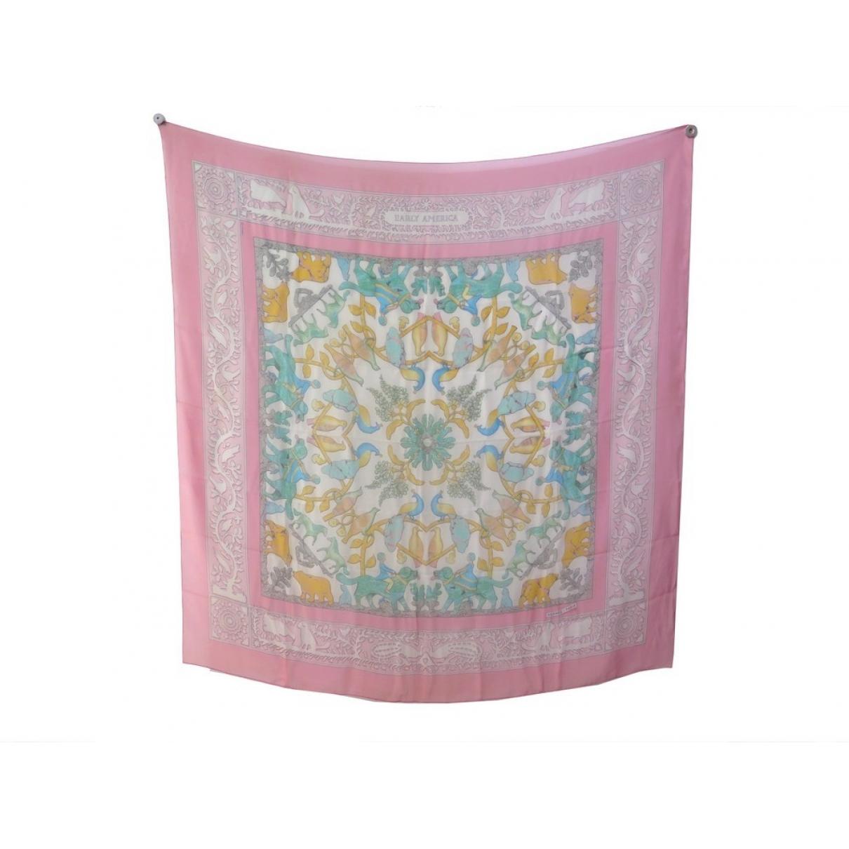 Hermès Carré Géant silk 140 Pink Silk scarf for Women \N