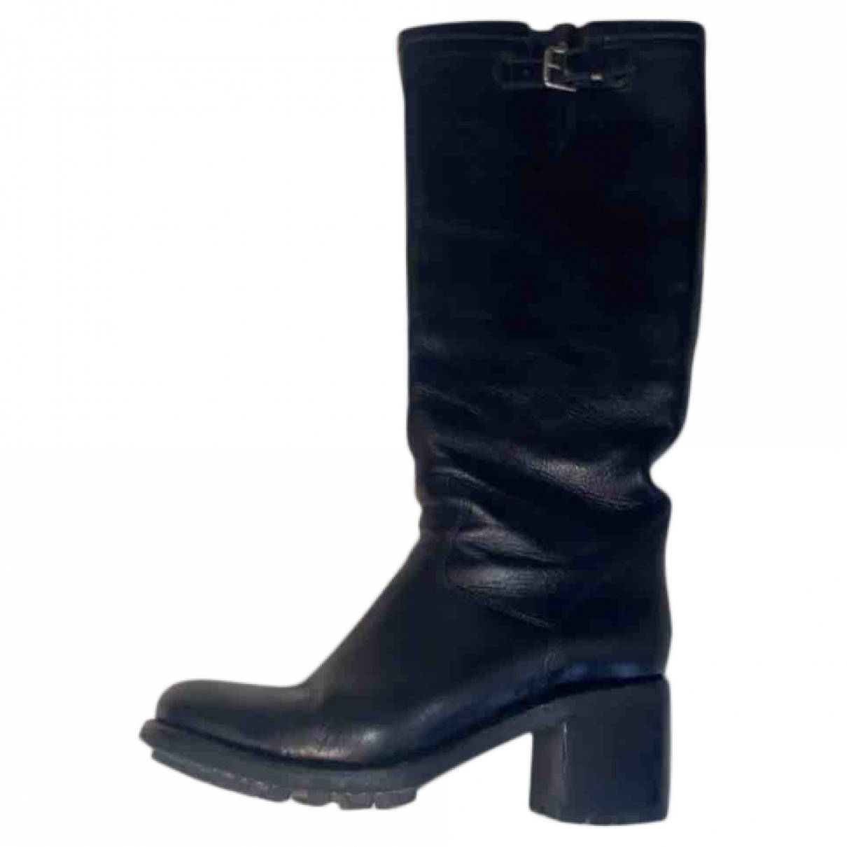 Free Lance Geronimo Black Leather Boots for Women 38.5 EU