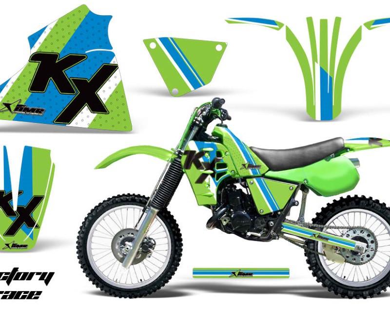AMR Racing Dirt Bike Decal Graphic Kit Sticker Wrap For Kawasaki KX125 1983-1985áFACTORY
