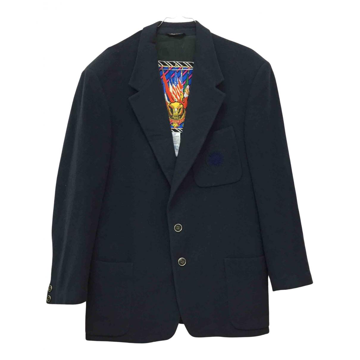 Versace Jeans \N Jacke in  Blau Wolle