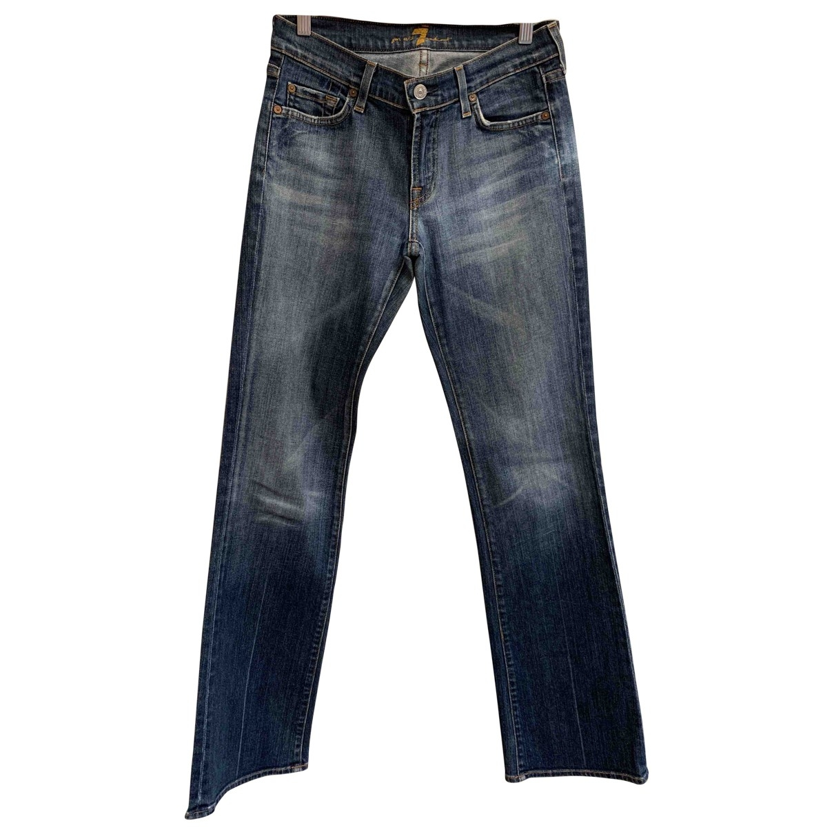7 For All Mankind \N Blue Denim - Jeans Jeans for Women 28 US