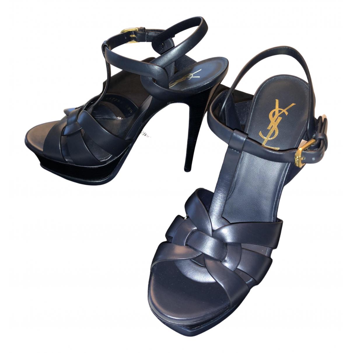 Sandalias Tribute de Cuero Yves Saint Laurent